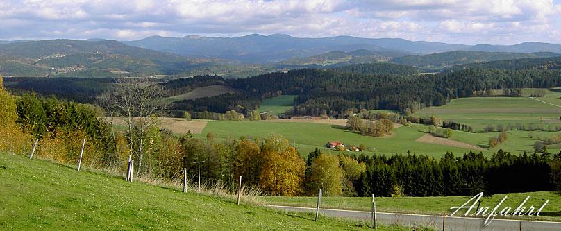 Anfahrt nach Kollnburg Bayerischer Wald, Bayern
